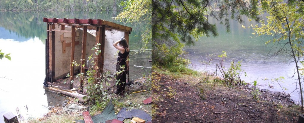 Pumphouse during and after